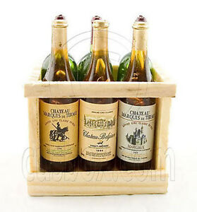 Box-Set-6-Champagne-Bottle-Wine-Wood-Rack-1-6-Doll-039-s-House-Dollhouse-Miniature