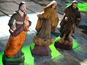 Three Piece Saint from Brazil for Sacred South American  Art Collector