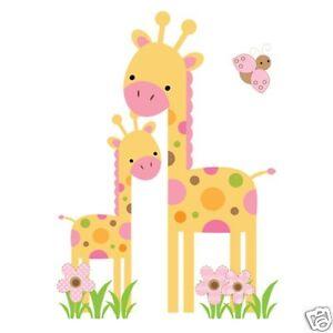 Mod Safari Giraffe Wall Art Mural Decal Baby Girl Jungle Animal Nursery Stickers
