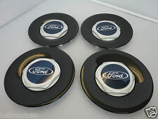 Genuine Ford Fiesta ST500 Black Alloy Wheel Centre Cap Set Of 4 ST 2004-2008