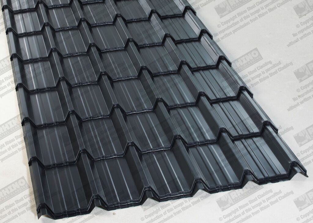Tile Effect Roofing Sheets Polyester Painted Steel Metal