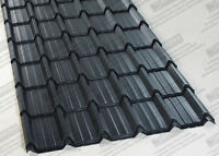 TILE EFFECT ROOFING SHEETS - POLYESTER PAINTED STEEL/METAL ROOF SHEETS