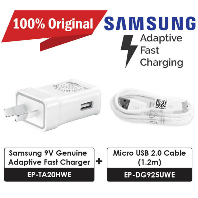 Samsung Charger EP-TA20HWE + Micro USB Cable for Any Micro USB Phones Genuine