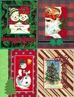 Handmade VINTAGE CHRISTMAS CARDS #CV7-Lot of 4