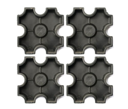 4 Gießformen Schalung 26,5x26,5 Betonform #F02 Bodenplatte Gehweg Rasenstein PKW