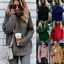 Turtle-Neck-Baggy-Tops-Chunky-Knitted-Oversized-Jumper-Sweater-Women-039-s-Winter thumbnail 3