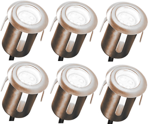 Bevorzugt 6X LED Einbaustrahler Terrasse Einfahrt Garten Bodenstrahler FR97