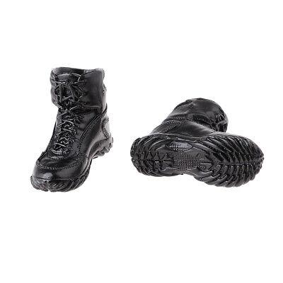 """1//6 Shoeslace Combat Boots Shoes for Female 12/"""" Action Figure Dragon Black"""