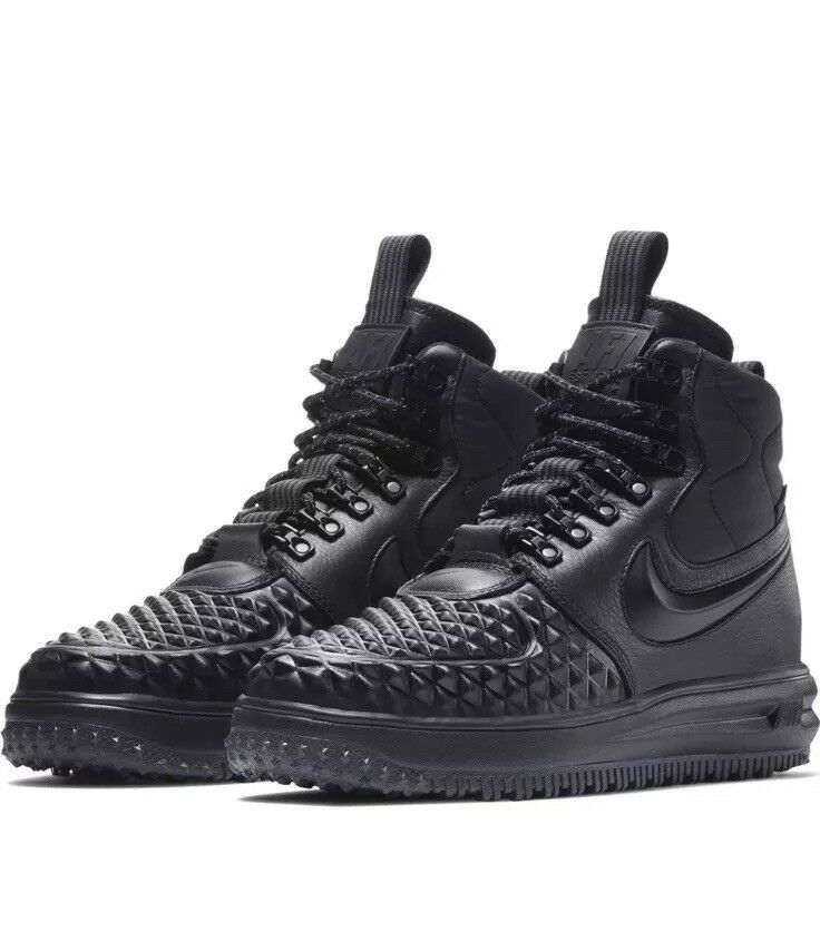 NIKE LF1 LUNAR FORCE 1 DUCKBOOT 2017 MEN'S SHOES SIZE US Sz 8.5 BLACK 916682-002