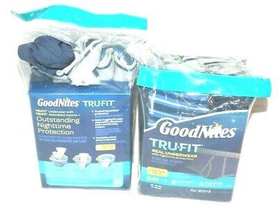 Goodnites TRU-FIT Underwear Nighttime Protection Starter Pack BOYS S//M