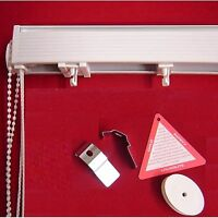 "*BARGAIN* Vertical Blind HEADRAIL TRACK RAIL any length up to 8ft (96""/ 243.8cm)"