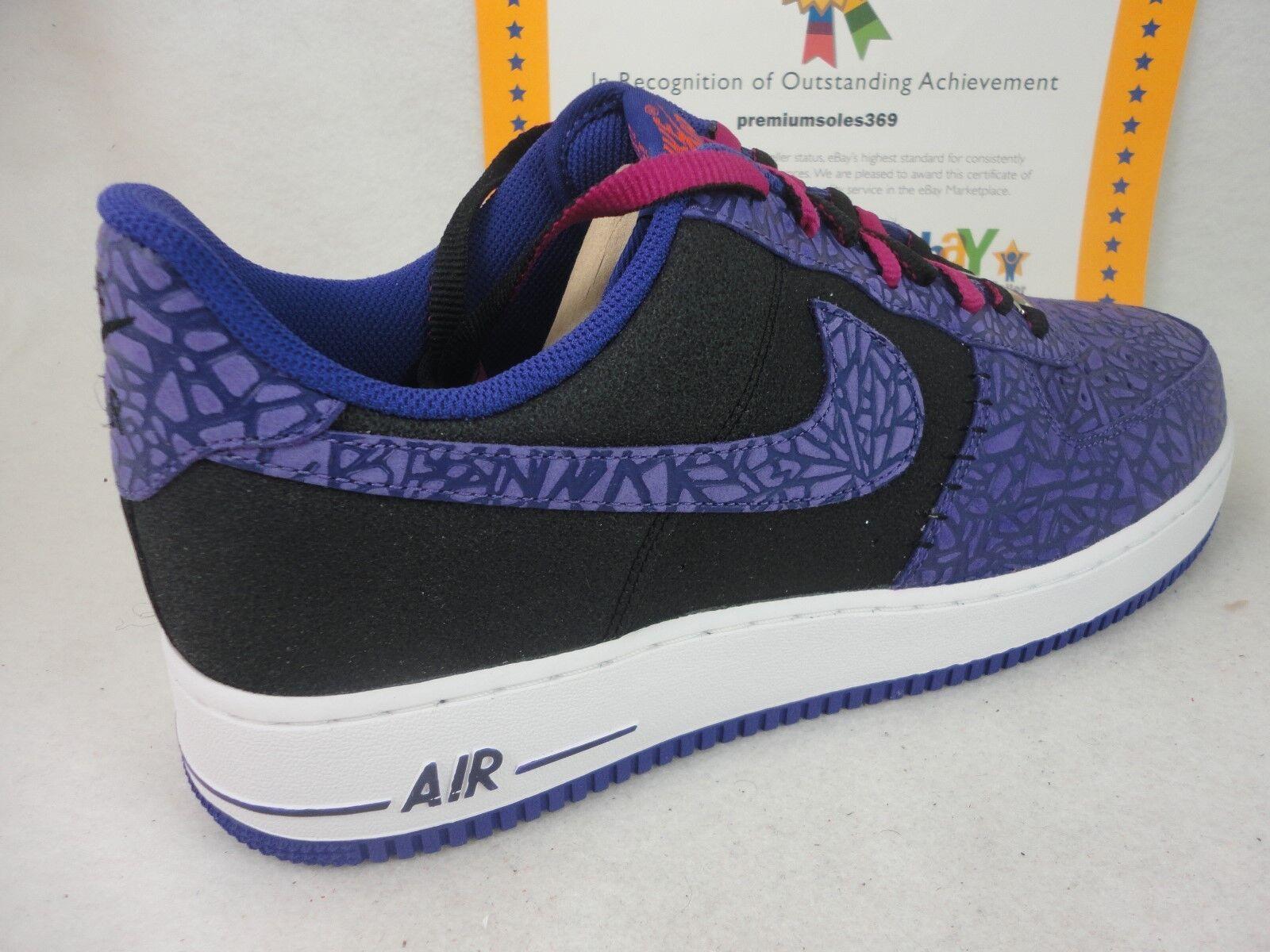 Nike Air Force 1,2013 Rare!!, Black / Court Purple, 488298 025, Size 14