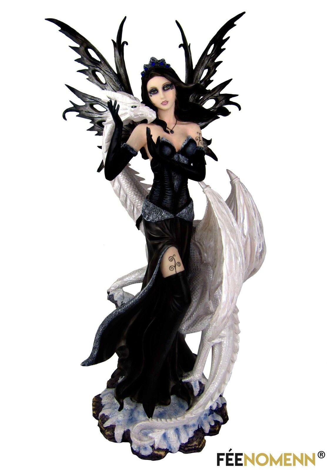 Statuette félizia fairy and dragon féliz (h68 x l30cm)