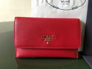 100-Authentic-Prada-Card-Case-In-Fuoco