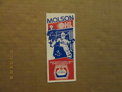 Cheap Price Ohl Vintage Circa 1988/89 Molson Canadian Sponsored League Pamphlet Schedule Cheap Sales 50% Sports Mem, Cards & Fan Shop Fan Apparel & Souvenirs