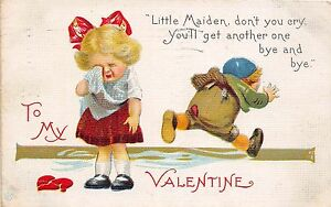 C33-Valentine-039-s-Day-Love-Holiday-Postcard-c1910-Toledo-Ohio-Crying-Girl-Boy-17
