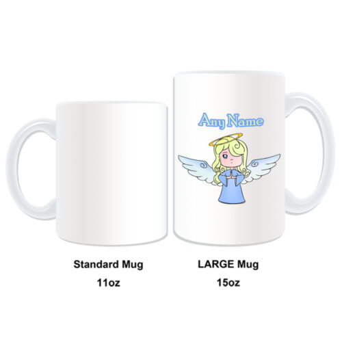 Personalised Gift Angel Mug Money Box Cup Fairy Tale Name Message Cute Girl Tea