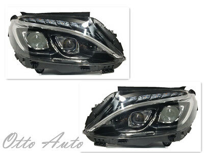 New Mercedes-Benz W205 Plug&Play C-Class Dual LED Headlight (Halogen Model)  Pair 942529273179 | eBay
