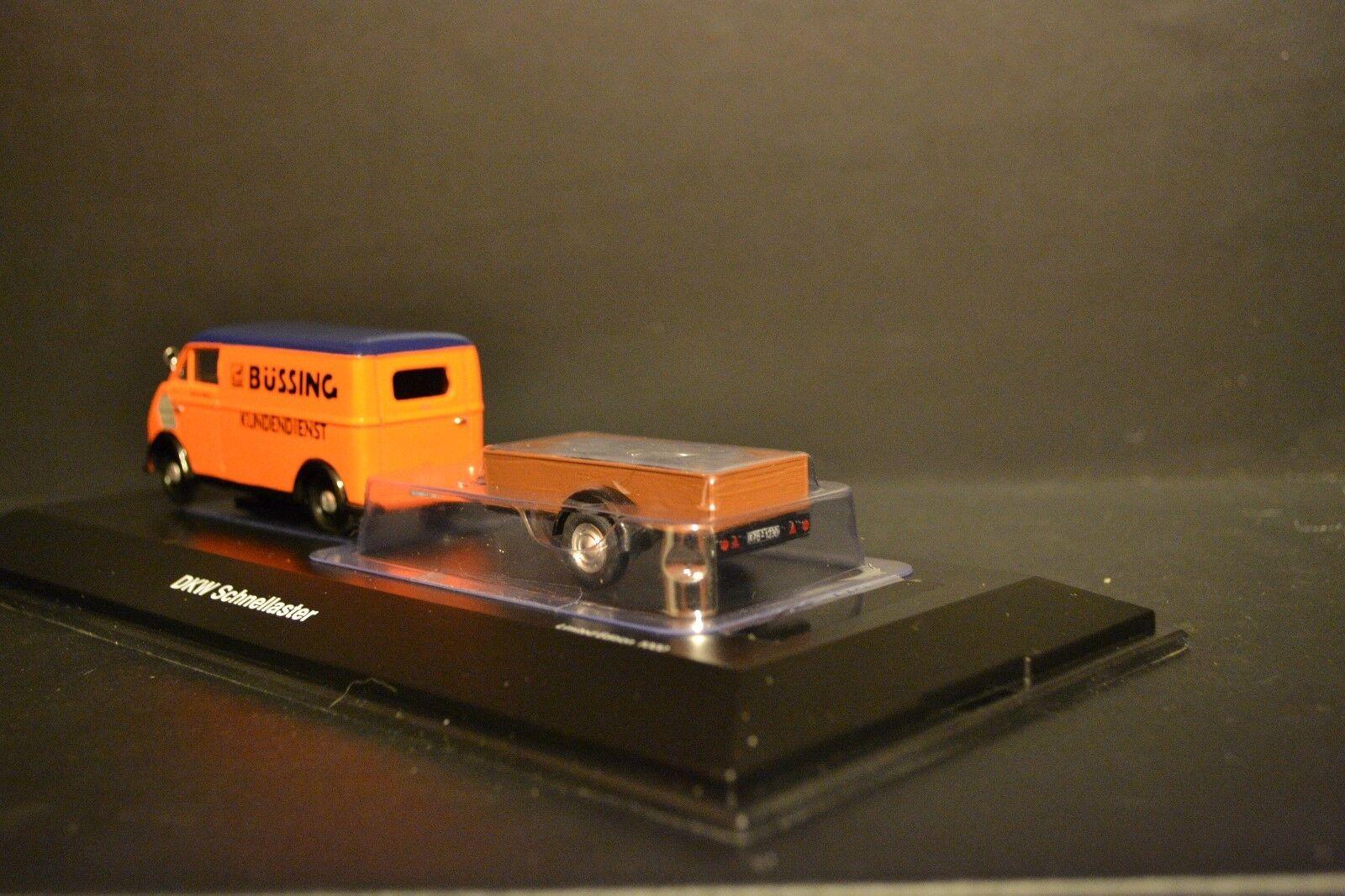 DKW Schnellaster con remolque remolque remolque Bussing en escala 1 43 Schuco Rara Edición Limitada de1c10