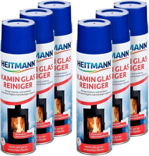 6er Pack 500ml Heitmann Kamin Glas-Reiniger