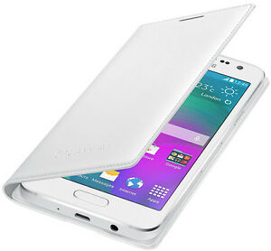 the latest 92dfc c617f Details about Genuine Samsung FLIP CASE GALAXY A3 SM A300FU smart phone  cover original wallet
