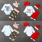 3Pcs Newborn Infant Baby Girls Top Shirt Long Pants Headband Xmas Outfit Clothes