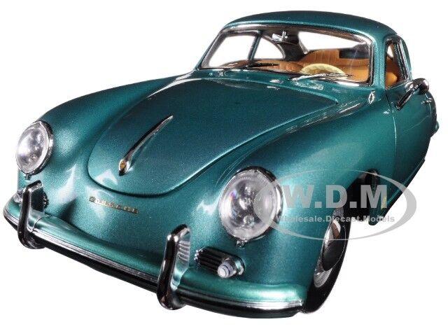1957 PORSCHE 356A 1500 GS CARRERA GT COUPE GREEN 1 18 DIECAST BY SUNSTAR 1343