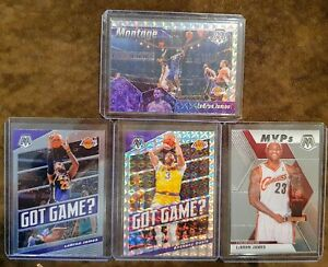 2019-20-Mosaic-Lakers-Lot-4-Lebron-James-Montage-Prizm-Anthony-Davis-Prizm