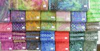 WONDERFUL NEW batik 100% cotton fabric in GEOMETRICS AND DOTS flavor of India