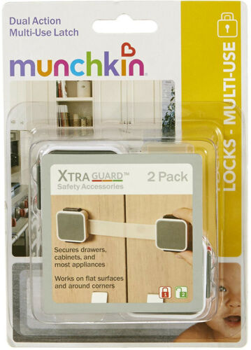 Munchkin Xtraguard Dual Action Multi Use Latches 2 Count