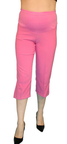 Hot Pink Maternity Capri Pregnancy Bottoms Pants Cropped Confy Elastic
