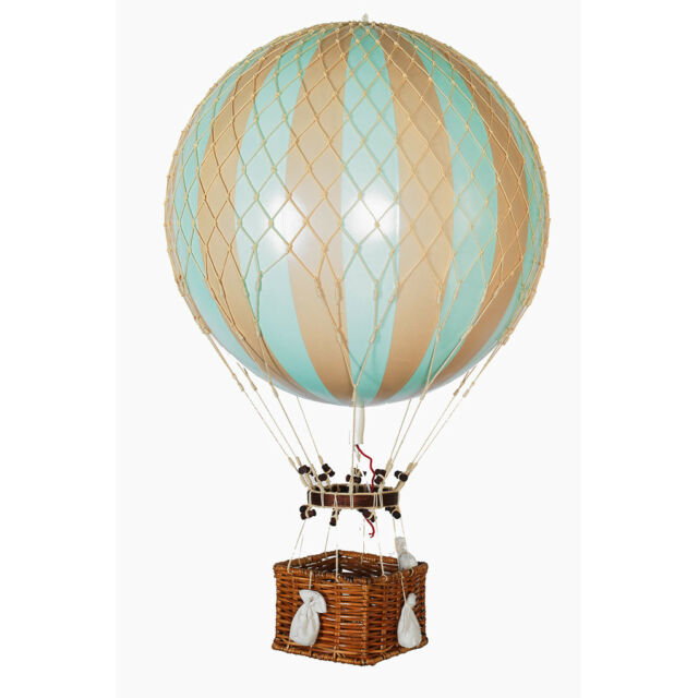 Xl Hot Air Balloon Model Mint Green 17 Aviation Hanging Ceiling Home Decor New