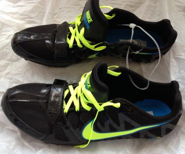 new concept 2b2c7 cdbbc Nike Zoom Rival S Men s Track Sprint Shoes Black Blue Running Cleats Size  13 NEW