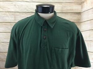 Duluth-Trading-Polo-Shirt-Longtail-T-Men-039-s-L-Green
