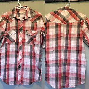 c6008cb4 Men's Roper Pearl Snap Western Shirt Size M EUC Red Black Short ...