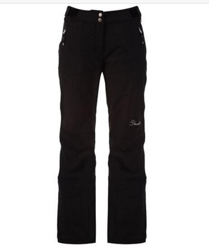 DARE2B Mujer Figura en II Negro Pantalones Esquí Overol Tamaño 8-20 Pierna Corta