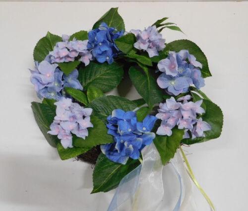 Fleurs Couronne de fleurs couronne hortensia türkranz couronne de fleurs en soie bleu 184547 f59