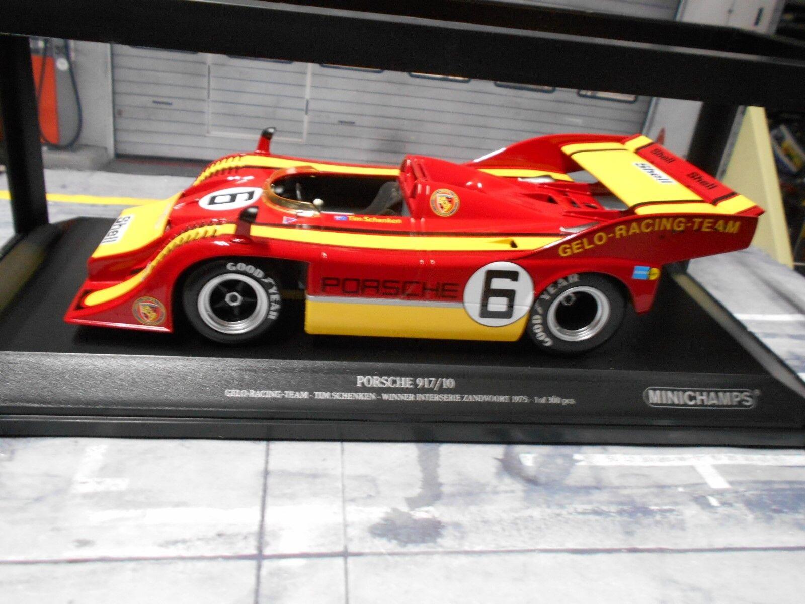 PORSCHE 917 917/10 SPYDER cancellata  6 prestare prestare prestare Zandvoort 1975 winner MINICHAMPS 1:18 9796cc