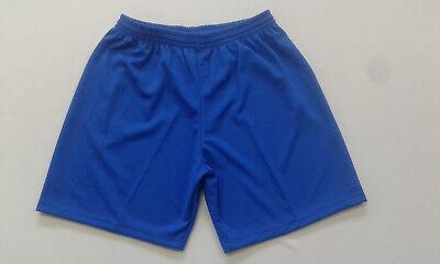 Footex 10 Pantaloncino Calcio Calcetto Misura L Col.azzurro Poliestere Traforato Prima Qualità