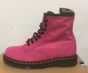 DR-MARTENS-1460-BIKINI-PINK-HI-SUEDE-WP-BOOTS-SIZE-UK-9
