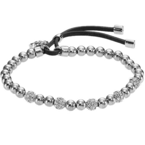 Crystal Bead Stretch serrure plaqué argent serrure pendentif or Bracelets