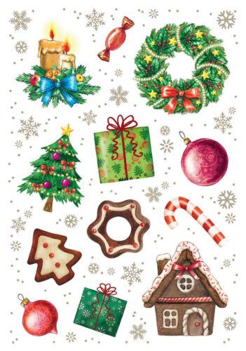 """HERMA Weihnachts Sticker DECOR /""""Weihnachtszeit/"""" 3 Blatt à 12 Sticker"""