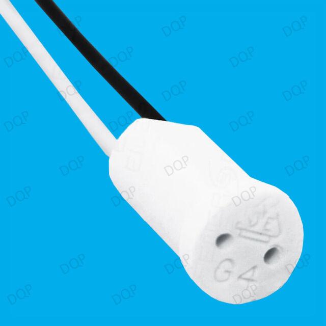 10x G4 Base Ceramic Lamp Holder Socket Cable Halogen LED Bulb Down Light Fitting