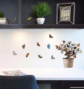Aufkleber-Sticker-Wandtattoo-Baeume-Fensteraufkleber-Baum-Moebel-Kueche-Deko-Kinder