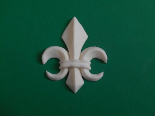Décoration résine Moulage fleur de lys Small Medium Large-Plain OR ou couleur