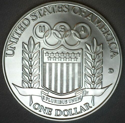 1992 D Olympic Baseball BU Silver Dollar Commemorative Coin ONLY