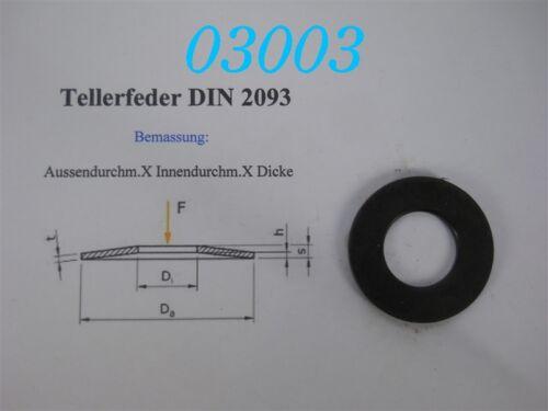 SCHNORR TELLERFEDER  40 x 20,4 x 2,5  VE 100 STÜCK DIN 2093