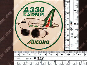 ROUND-ALITALIA-PUDGY-STYLE-AIRBUS-A330-DECAL-STICKER-3-5-x-3-5-in-9-x-9-cm