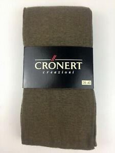 NEU-Croenert-Strumpfhose-Art-72210-olive-Baumwolle