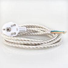 Bügeleisen-Anschlussleitung Kabel 2 Meter Textilumflochten mit Stecker
